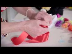 ▶ Arts  Crafts Tutorial: How to Make Ribbon #Roses - YouTube