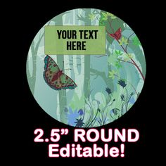 Fresh Looking EDITABLE ROUND STICKER Instant by OntheDownlowd