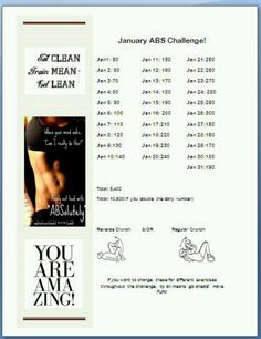 January Abs Challenge