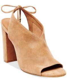 8a9801a5d70 Steve Madden Women s Saffron Peep-Toe Block-Heel Sandals Clearance Shoes