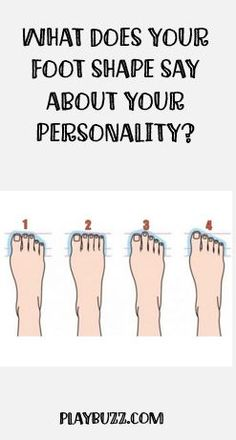 Is your second toe longer than your big toe? Do they cross over? The shape of your feet might hold clues to your personality - so we investigate further...
