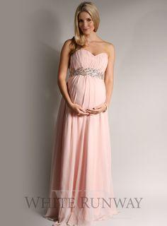 Grecian Strapless Bridesmaid Dress Maternity Dresses Wedding