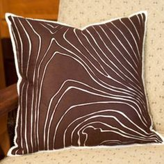 rosewood faux bols throw pillow: hand cut reverse felt applique on felt background
