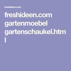 freshideen.com gartenmoebel gartenschaukel.html