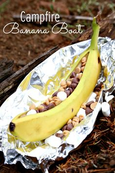 Camping Food Ideas: Campfire Banana Boats - This looks so good! - www.classyclutter.net