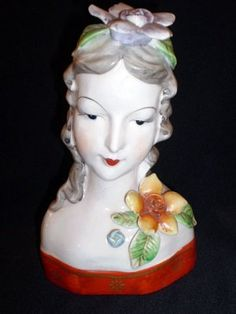 Occupied Japan - Colonial Lady Head Figurine  $45