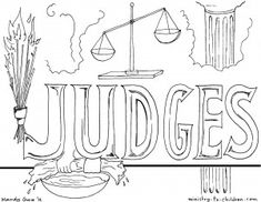 judge coloring page - 1000 images about bible journaling study judges on