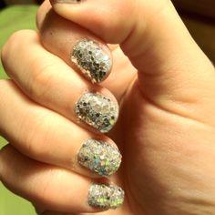disco ball nails. c: