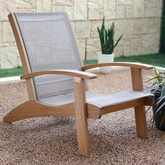 Belham Living Whitman Adirondack Chair With Sling   Natural   From  Hayneedle.com Part 76