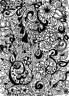 doodle background for journal by wteresa