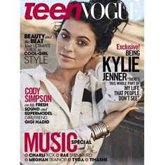 My little boo bear is breathtaking on the cover of Teen Vogue!!! @kyliejenner you are such a beautiful free spirit!!! Why won't they stop growing up?!?!