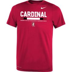 Nike Youth Stanford Cardinal Football Staff Legend Cardinal T-Shirt, Size: Medium, Team