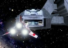 Galactica landing bay by duo Bryce Science Fiction Best Sci Fi Shows, Sci Fi Tv Shows, Space Fantasy, Sci Fi Fantasy, Kampfstern Galactica, Battlestar Galactica 1978, Pintura Exterior, Science Fiction Art, Old Tv