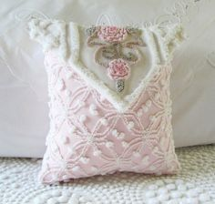 ..recycling an old Chenille bedspread...