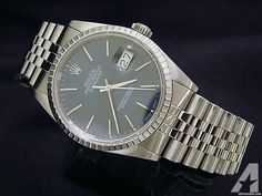 Rolex Datejust Date Watch Blue