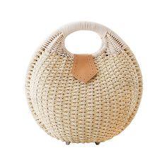 Fashion Eco-friendly Rattan Shell Handbag NT0144