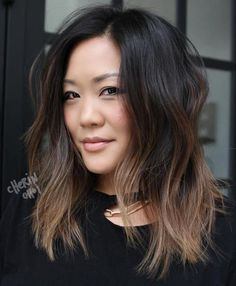 6 Great Balayage Short Hair Looks – Stylish Hairstyles Balayage Lob, Brown Hair Balayage, Balayage Hair Brunette Medium, Partial Balayage Brunettes, Asian Balayage, Brunette Lob, Short Balayage, Light Brunette, Ombre Hair Color