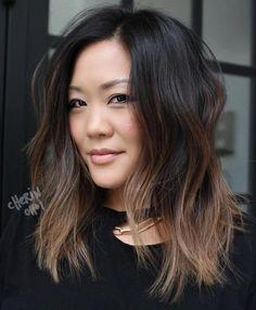 6 Great Balayage Short Hair Looks – Stylish Hairstyles Balayage Lob, Brown Hair Balayage, Balayage Hair Brunette Medium, Short Balayage, Balayage Highlights, Ombre Hair Color, Brown Hair Colors, Lob Ombre, Dark Ombre