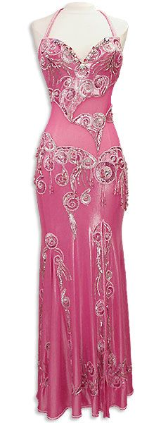 Pink and Silver - love the shape of this, and the style of the beadwork.