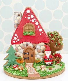 Fantastic 3d cookie Christmas scene~