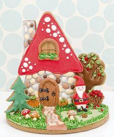 Fantastic 3d cookie Christmas scene~