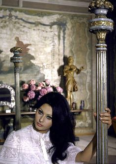 Sophia Loren in her bedroom in her villa, photo by Alfred Eisenstaedt, Rome, Italy, June 1964