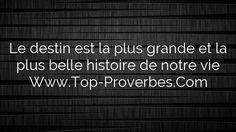 Le destin est la plus grande et la plus belle histoire de notre vie  http://top-proverbes.com/citations/divers/le-destin-est-la-plus-grande-et-la-plus-belle-histoire-de-notre-vie/ , Divers , #Divers
