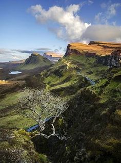 The (breathtakingly beautiful) Quiraing is a landslip on the eastern face of Meall na Suiramach, the northernmost summit of the Trotternish Ridge, on the Isle of Skye in Scotland
