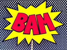 Superhero Party Bam - Pow signs or centerpieces - set of 2. $12.00, via Etsy.
