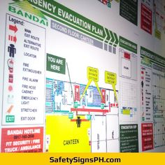 Deliver a safe and clear egress route to building occupants with our customized photoluminescent evacuation p. Fire Hose Cabinet, Emergency Evacuation Plan, Emergency Lighting, Fire Extinguisher, Philippines, Maps, How To Plan, Map