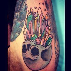 crystal skull tattoo