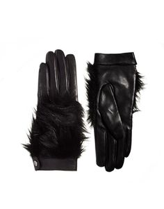 The Wang would approve! Leather gloves with Zoe style faux fur uppers create fun,