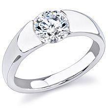 Stardust Active Engagement Ring: This stunning sleek new design is perfect for the modern bride. The center stone (not included) is set low and the matching band (sold separately) fits flush against the setting.