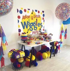 Ideas for birthday party ideas toddler free printable Wiggles Party, Wiggles Birthday, 3rd Birthday Cakes, 3rd Birthday Parties, Birthday Party Decorations, Birthday Kids, Second Birthday Ideas, Twin First Birthday, Twins