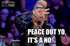 """Peace out yo, it's a no!"" - Demi Lovato"