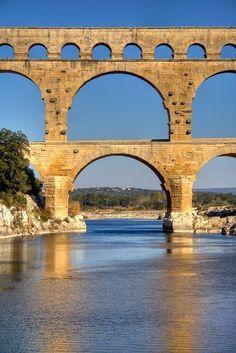 Pont Du Gard, ancient Roman aquaduct in Provence                                                                                                                                                                                 More