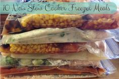 10 New Slow Cooker Freezer Meals chicken #crockpot #slowcooker #freezermeals