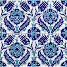 Set of 4 Belki Turkish Tiles
