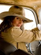 My pal Cindy Joseph in one of my fave pics of her — cowgirl in a kick-ass truck.