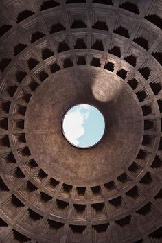 The Pantheon - Rome, Italy - 126 A.D One of the most interesting buildings in the world. It will still your heart.