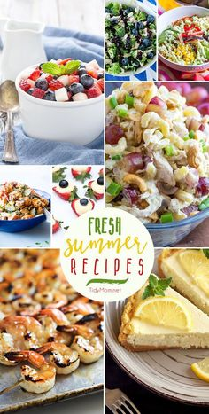 Picnic, bbq and outdoor party season begins this weekend and I can't wait! Summer celebrations are packed with family, friends, fun and Fresh Summer Recipes. From salads, to shrimp on the grill, lemon cheesecake and more they are all crowd pleasing recipe