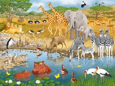 African Animals | Children's Puzzles | 2D Puzzles | Shop | US | ravensburger.com