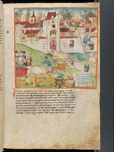 Bern, Burgerbibliothek, Mss.h.h.I.1, f. 289 – Diebold Schilling, Amtliche Berner Chronik, vol. 1