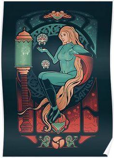 """Aran Nouveau"" by victorsbeard Samus Aran / Metroid in art nouveau style Samus Aran, Metroid Samus, Metroid Prime, Art Nouveau, Art Deco, Game Character, Character Design, Super Metroid, Video Game Art"