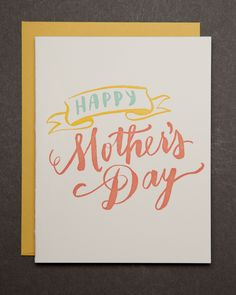 Ladyfingers Letterpress - Happy Mother's Day clever fathers day gifts, new fathers day gift ideas, handmade fathers day gifts Letterpress - Happy Mother's Day Fathers Day Cards, Happy Fathers Day, Funny Mothers Day, Mother's Day Diy, Mom Day, Happy Mom, Letterpress Printing, Watercolor Cards, Birthday Cards