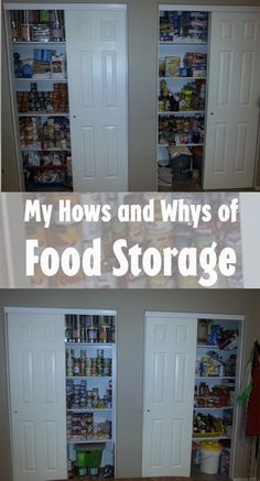 My how's & whys of food storage. I love having almost all the food I use weekly on hand,  & here's how I do it!