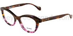 Miu VMU 07LV Miu VMU07LV MA0101 Brown/Purple Glasses | Eyewear Brands