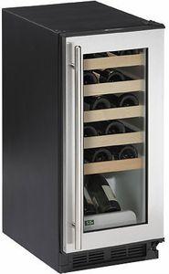 1115WCS-00 U-Line 1000 Series Undercounter 24 Bottle Wine Captain - Field Reversible - Stainless Steel