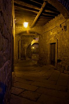 Ruins And Remnants From The Medieval Historic Center Of Viterbo Italy Town Is One Best Preserved Its Era In Europe