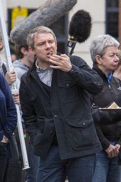 Martin Freeman Photos Photos - 'Sherlock' Films in London - Zimbio